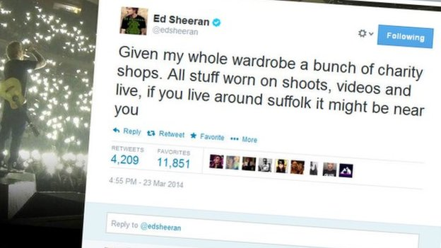 Ed Sheeran tweet