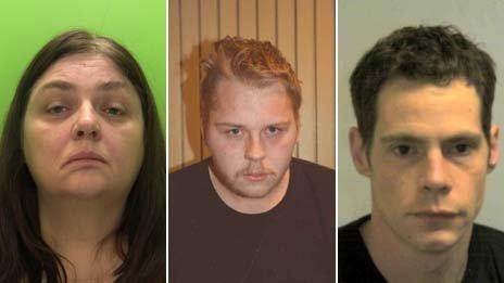 Angela Dowling, Matthew Duffy and Stephen Schofield