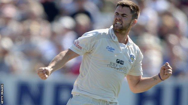 Durham bowler Jamie Harrison