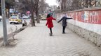 Girls skateboarding in Kabul