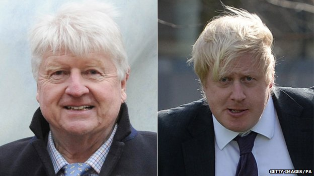 Stanley Johnson and Boris Johnson