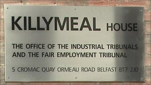 The case was heard at an industrial tribunal in Belfast