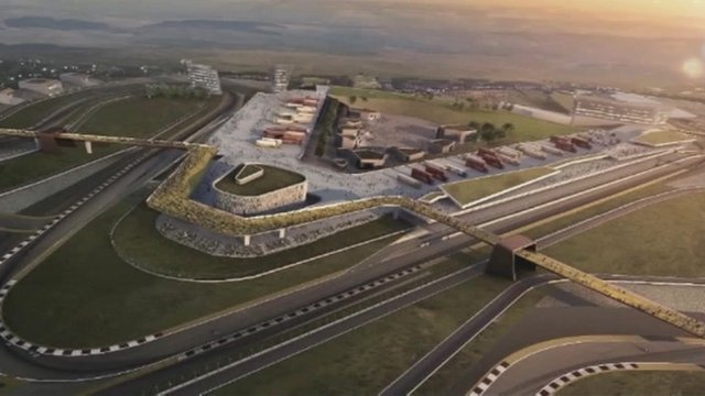 An artist's impression of the Circuit of Wales
