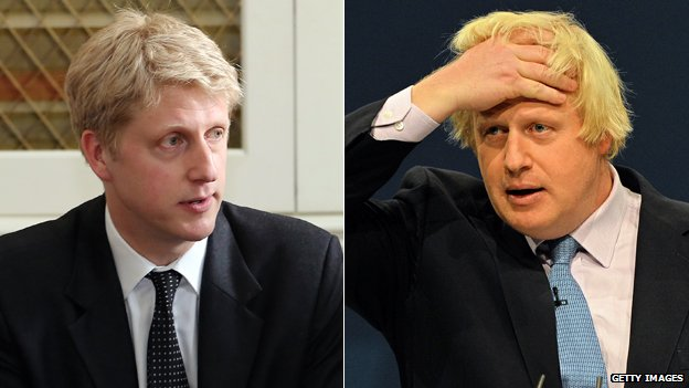 Jo Johnson and Boris Johnson