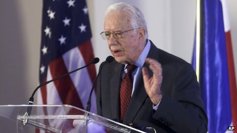 Former US President Jimmy Carter appeared in Panama City, Florida, on 14 March 2014