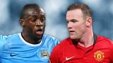 Yaya Toure and Wayne Rooney