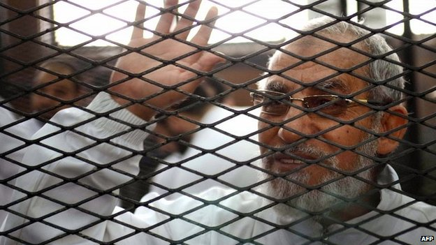Mohammed Badie in court. Feb 2014