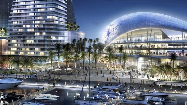Artist impression of a proposed stadium for David Beckham's MLS team
