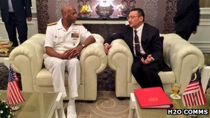 Hishammuddin Hussein met with Rear Admiral Willie Metts earlier today