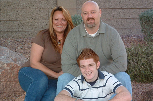 Eddie, Tyna and son Dustin