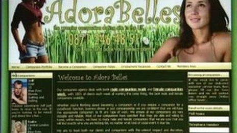 Screengrab of the AdoraBelles website