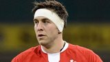 Ryan Jones playing for Wales