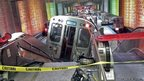 A Chicago metro train derailed at O'Hare International Airport