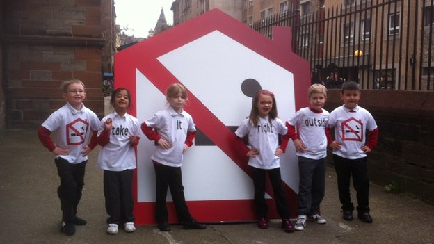 Pupils from Royal Mile Primary School launch the campaign