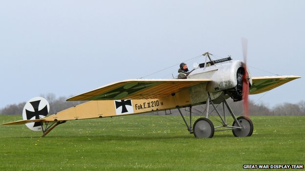 John Day in his Fokker Eindekker
