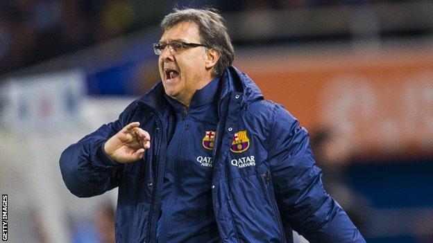 Barcelona manager Gerardo Martino