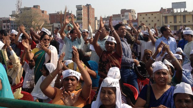 Arvind Kejriwal rally, Varanasi, 25 March 14