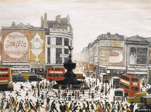 Piccadilly Circus by LS Lowry