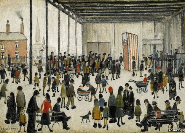 Punch and Judy by LS Lowry
