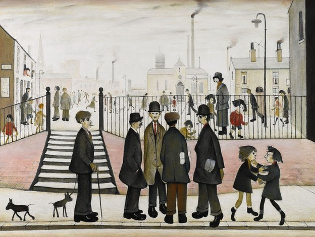 The Town Square by LS Lowry