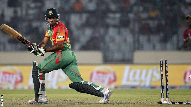 Ziaur Rahman is bowled