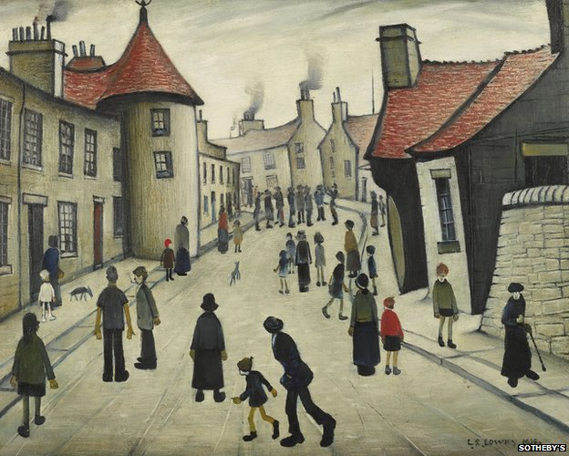 Street Musicians by LS Lowry
