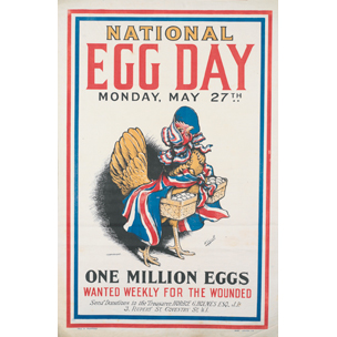 A poster advertising 'National Egg Day'