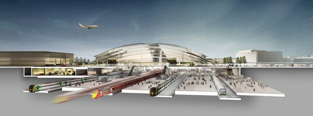 Planned Gatwick transport interchange