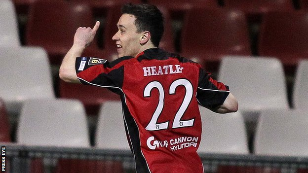 Paul Heatley scored both Crusaders goals at Seaview