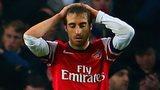 Mathieu Flamini dejected against Swansea