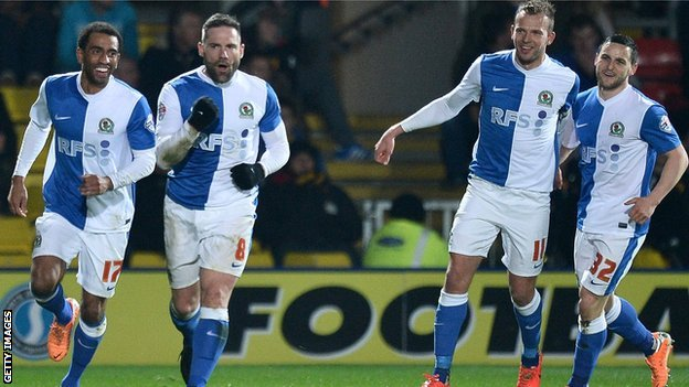 David Dunn of Blackburn celebrates his side's goal