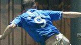 Steven MacLean celebrates his goal for St Johnstone at St Mirren Park
