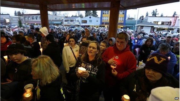 Vigil in Arlington, Washington (25 Mar 2014)