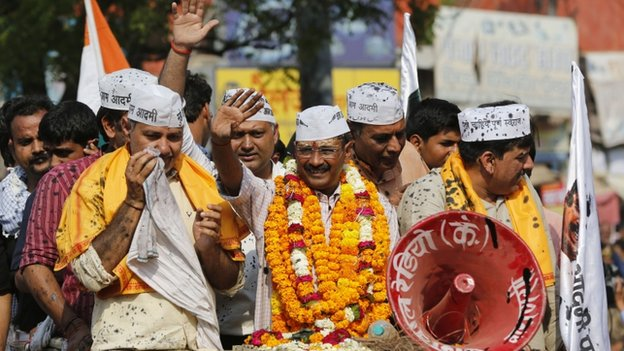 Mr Kejriwal's party was born out of a strong anti-corruption movement that swept India two years ago