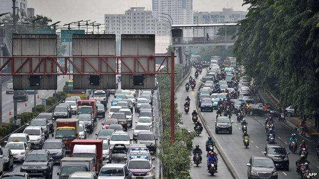 File photo of traffic in Jakarta