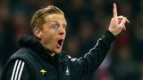 Garry Monk gesticulates from the touchline during Swansea's 2-2 draw with Arsenal