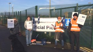Pickets at Westfield School, Sheffield