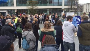 NUT rally at Guildhall Square, Southampton
