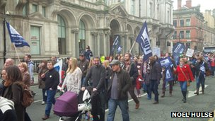 NUT march in Liverpool