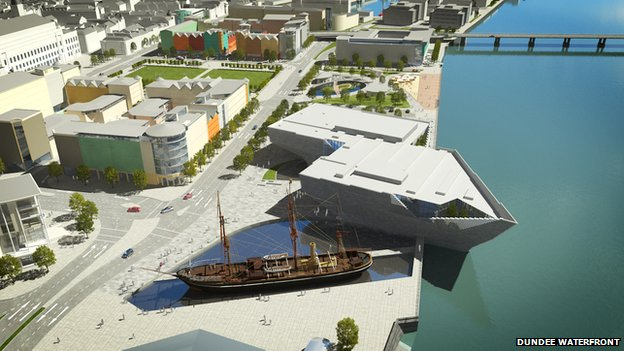 Dundee waterfront image