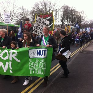 Nottingham NUT strike