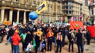 Birmingham NUT strike protest