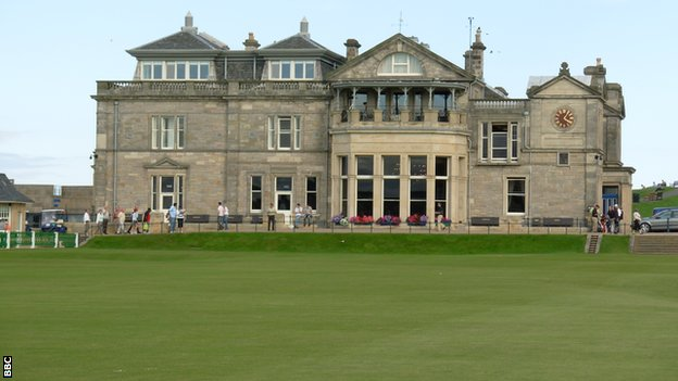 Royal and Ancient club house, St Andrews golf course