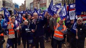 NUT strike in Chelmsford