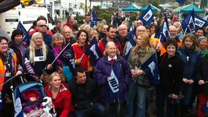 NUT rally in Truro