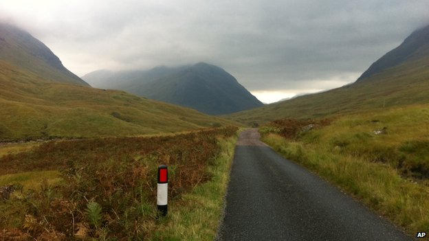 Road in Glen Etive