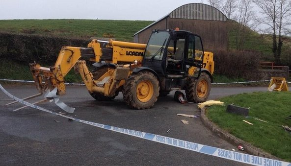 Digger believed to have been used in robbery