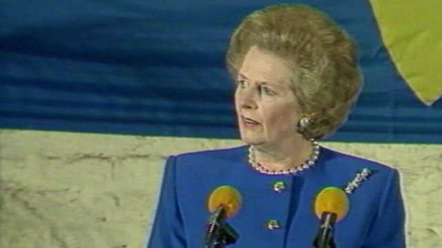 Margaret Thatcher in 1988