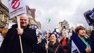 NUT march in Birmingham