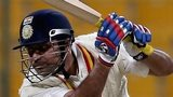 Virender Sehwag batting against Durham